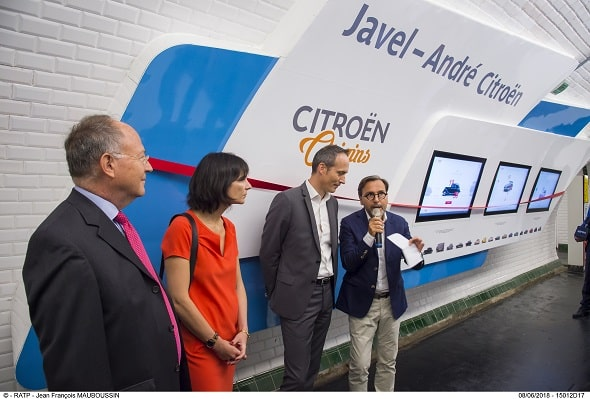 INAUGURATION DE L'AMENAGEMENT CULTUREL CITROEN LIGNE 10
