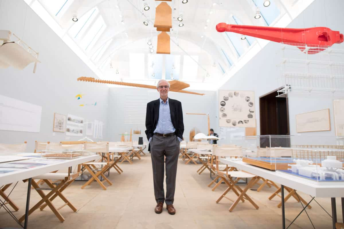 L'architecte Renzo Piano, invité d'honneur de la Royal Academy of Arts