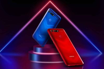 Honor View 20, version Phantom Red, by Moschino