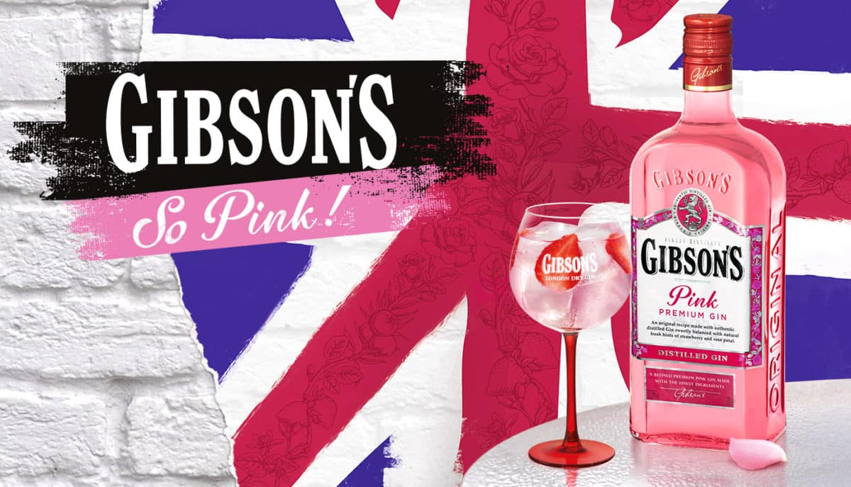 Gin Gibson's Tonic en mode girly Pink